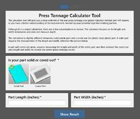 Press Tonnage Calculator Pic